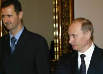 MOSCOW, RUSSIA - JANUARY 25: Russian President Vladimir Putin (R) receives Syrian President Bashar al-Assad (L) during their meeting in Moscow's Kremlin, January 25, 2005. Russia and Syria have reached a deal on restructuring debt owed by Syria left over from the Soviet era, the Syrian and Russian presidents announced after Kremlin talks. (Photo by Salah Malkawi/ Getty Images)