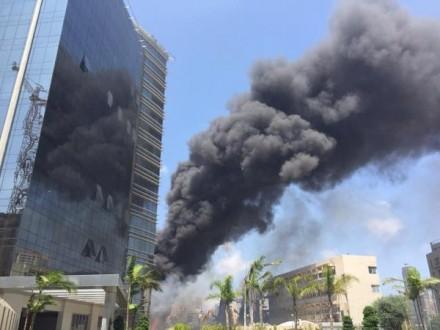 إندلاع حريق بالقرب من سوق الخضار في سن الفيل