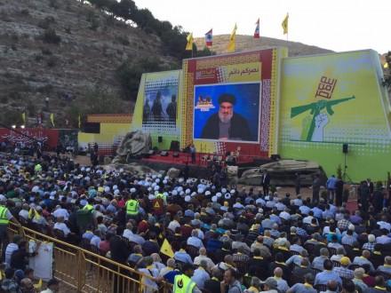 بالصور- حزب الله يحيي الذكرى التاسعة لحرب تموز 2006 في وادي الحجير