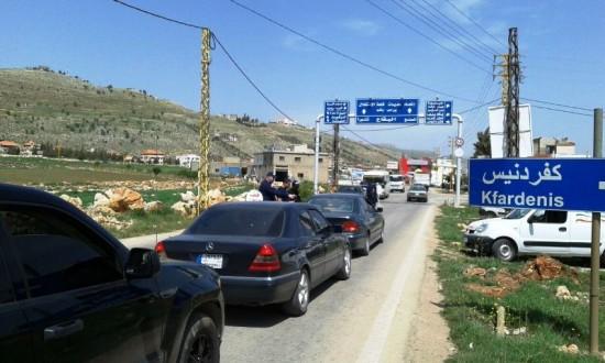 قطع طريق المحيدثة -كفردينس في راشيا احتجاجا على مكب نفايات