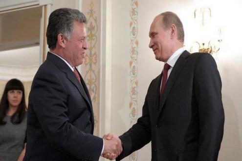 بوتين يستقبل الملك الاردني وولي عهد ابو ظبي