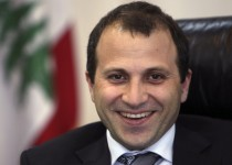 Lebanon's Minister of Energy and Water Gebran Bassil smiles during an inteview with Reuters at his office in Beirut June 14, 2010. REUTERS/ Cynthia Karam   (LEBANON - Tags: POLITICS)