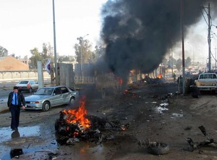 8 قتلى وعشرات الجرحى بانفجار سيارة مفخخة ببلدة سرمدا السورية