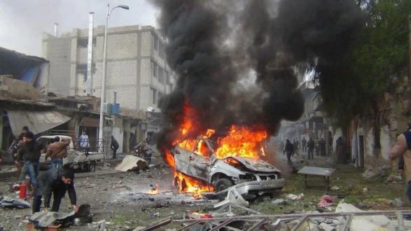 انفجار سيارة مفخخة بمحيط مارع بريف حلب