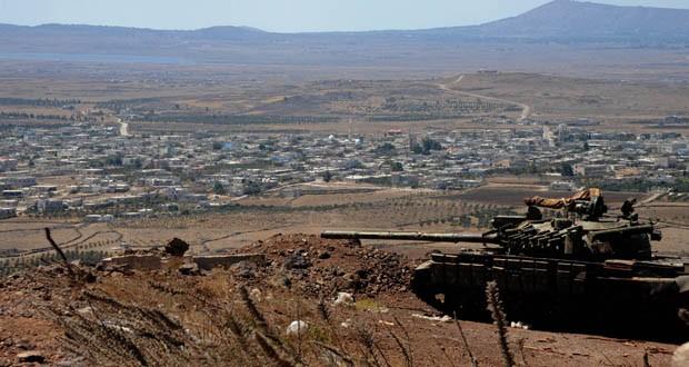 """خاص: الجيش الإسرائيلي يقصف """"سرية محيرس"""" إحدى سرايا المدفعية و المشاة التابعة للجيش السوري بريف القنيطرة"""