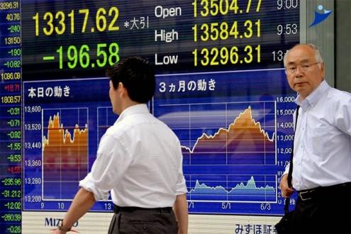 هبوط الاسهم اليابانية في التعاملات الصباحية 1.6 %