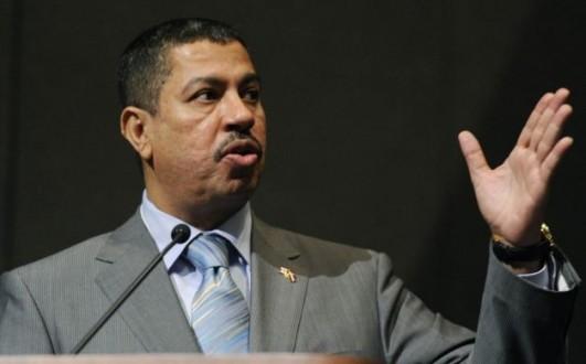 خالد بحاح نائب الرئيس اليمني يصل إلى صافر بمحافظة مأرب
