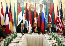 Russia's Foreign Minister Sergei Lavrov, U.S. Secretary of State John Kerry and foreign ministers attend a meeting in Vienna