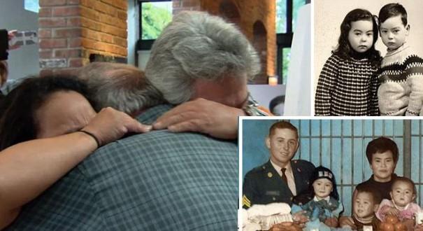 أمريكي يلتقي ابنه وابنته التوائم بعد 40 عاما من فقدانهما في كوريا