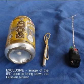 داعش ينشر صورة للقنبلة التي فجرت الطائرة الروسية