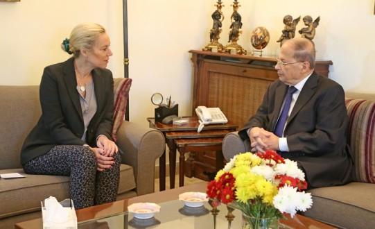 عون إستقبل ممثلة الأمين العام للأمم المتحدة في لبنان