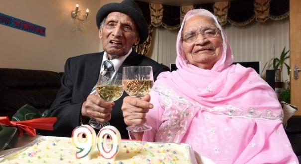 أقدم زوجين في العالم يحتفلان بعيد زواجهما التسعين