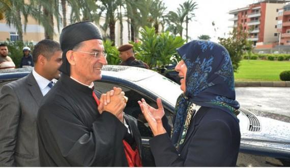 السيدة رباب الصدر زارت البطريرك الراعي وعايدته بمناسبة الأعياد المجيدة