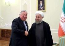 الرئيس روحاني يستقبل رئیس مجلس الشیوخ الفرنسي