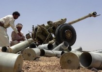Armed Yemeni tribesmen from the Popular Resistance Committees, supporting forces loyal to Yemen's Saudi-backed fugitive President Abedrabbo Mansour Hadi, inspect artillery shells as they continue to battle Shiite Huthi rebels in the area of Sirwah, in the west of Marib province, east of the capital, Sanaa, on May 21, 2015. A United Nations conference to relaunch political talks on Yemen will open in Geneva next week, a UN spokesman said on May 20, despite uncertainty over who will attend.   AFP PHOTO / STR        (Photo credit should read -/AFP/Getty Images)