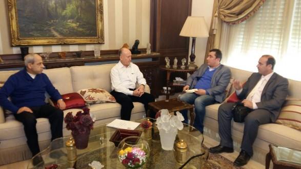 ريفي التقى الامين العام للهيئة العليا للاغاثة ووفدا تركيا