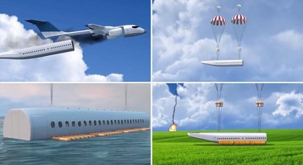 النجاة من تحطم الطائرات أصبح ممكنا بفضل هذا التصميم