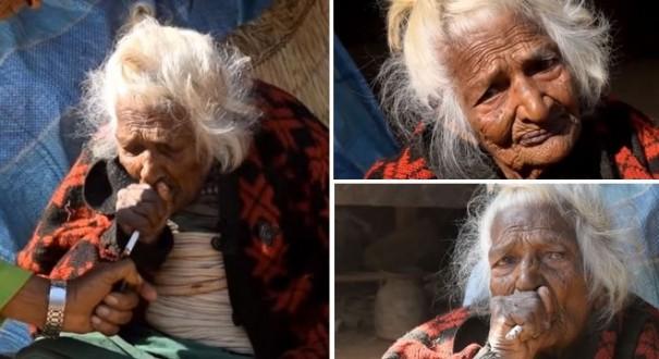 عجوز بعمر 112 تقول إن التدخين سر حياتها الطويلة