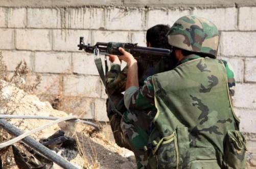 الجيش السوري يستهدف المسلّحين في الشيخ مسكين