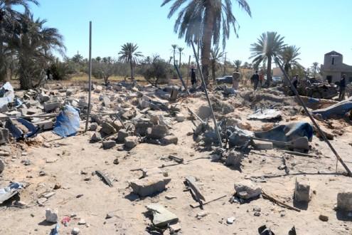 49 قتيلاً بغارة أميركية على مقر لتنظيم داعش في مدينة صبراتة الليبية