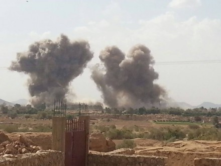 4 غارات لطيران التحالف السعودي على مناطق متفرقة من مديرية صرواح في مأرب