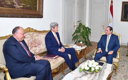 جون كيري للسيسي: أمريكا ملتزمة بدعم استقرار مصر وتعزيز العلاقات معها