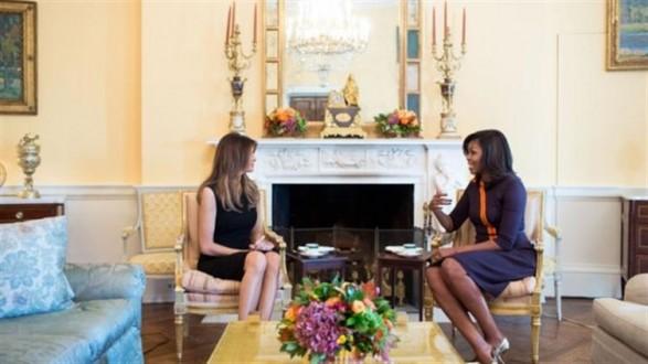 603bc4a83732f زوجة أوباما تجتمع بزوجة ترامب في البيت الأبيض