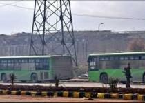 المسلحون يحرقون عدد من الباصات المتوجهة إلى كفريا والفوعة