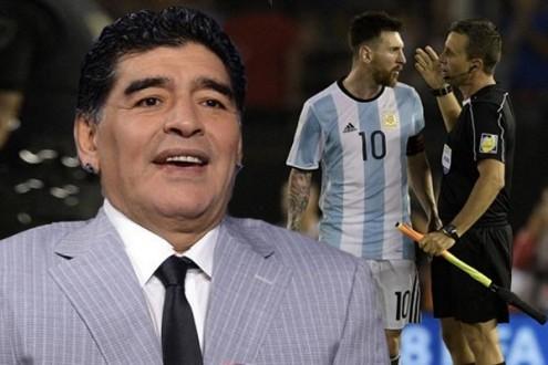 """مارادونا ينفي تورطه في عقوبة """"الفيفا"""" على ميسي"""