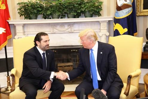 c15c0c850 ترامب في مؤتمر صحافي مشترك مع الحريري: لبنان في خط المواجة الأول ضد  الإرهاب. أكد الرئيس الأميركي دونالد ...