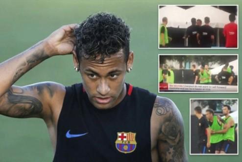 بالفيديو.. نيمار يغادر تدريبات برشلونة بعد شجار مع زميله الجديد سيميدو