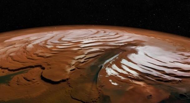 عواصف ثلجية ومياه على سطح المريخ !
