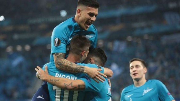 زينيت يقسو على ريال سوسييداد ويتصدر مجموعته في الدوري الأوروبي