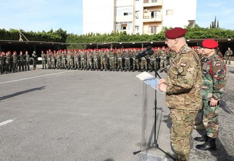 20ea203e10751 قائد الجيش تفقد قيادة الشرطة العسكرية  لتكثيف المهمات الأمنية خلال فترة  الأعياد