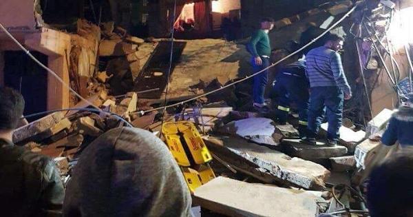 cd726966dcbb6 وفاة امرأة وابنتها في انهيار مبنى في برج البراجنة