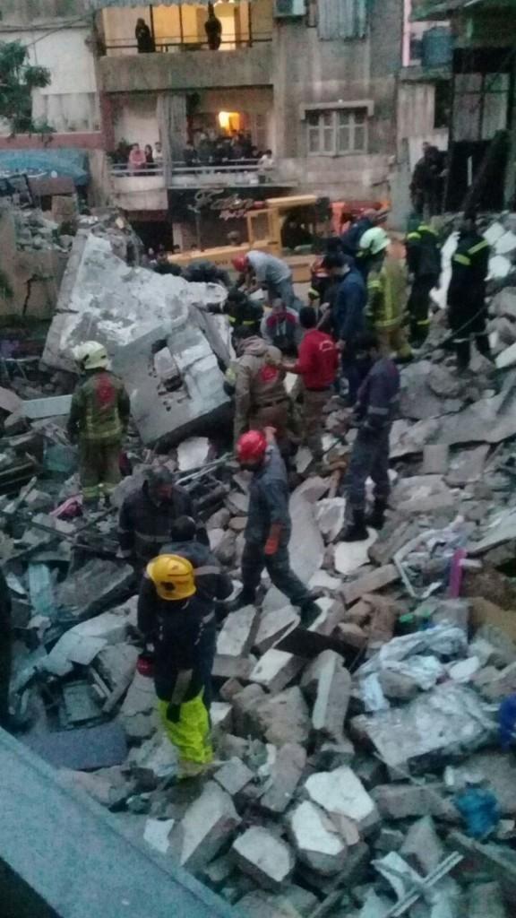 135d8def4ab99 وفاة امرأة وابنتها في انهيار مبنى في برج البراجنة