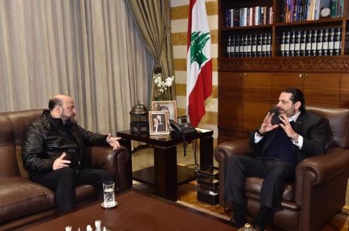 الحريري عرض الاوضاع مع رياشي واستقبل قائد الجيش