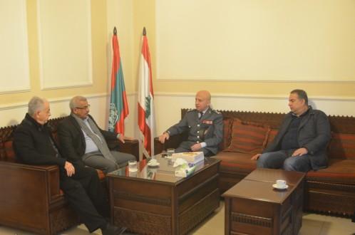 اسامة سعد التقى قائد منطقة الجنوب في قوى الأمن الداخلي