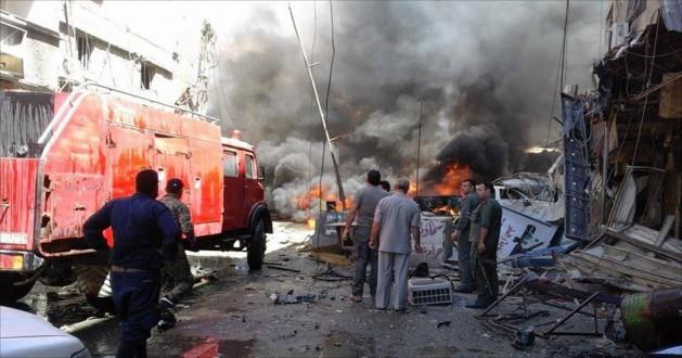 إنفجار سيارة مفخخة بمنطقة المتحلق الجنوبي في دمشق