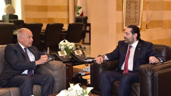 أبو الغيط بحث مع الحريري الأوضاع الإقليمية