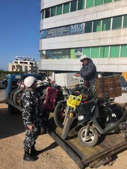 إجراءات مشددة بحق الدراجات الآلية غير المسجلة