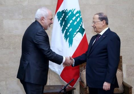 عون عرض مع ظريف العلاقات بين لبنان وايران