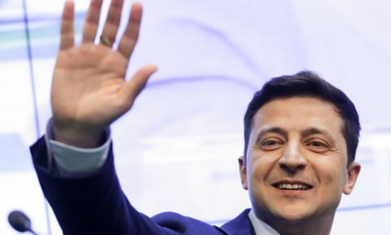 Comedian on course for landslide victory in Ukrainian election