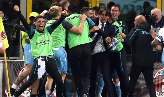 لاتسيو يحجز مقعداً في نهائي كأس إيطاليا بإقصائه ميلان
