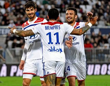 ليون ينتزع فوزا صعبا من بوردو في الدوري الفرنسي