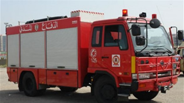 الدفاع المدني يعمل على إخماد حريق في وادي حلبا