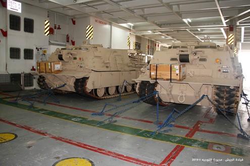 الجيش تسلم عربتي نجدة هبة من السلطات الأميركية