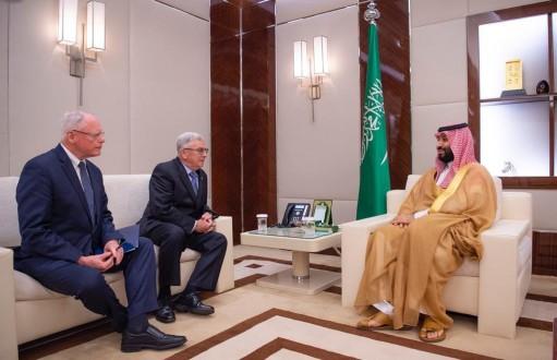 محمد بن سلمان يبحث الأحداث الإقليمية مع جيمس جيفري