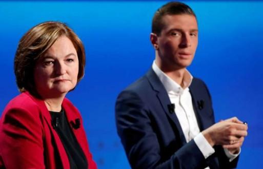 Européennes : sans surprise, Mme Loiseau et M. Bardella jouent deux inconciliables partitions
