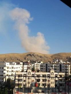 مصادر ملحق: إنفجار مستودع ذخيرة بضاحية قدسيا بدمشق وسط تحليق للطيران الإسرائيلي فوق الأجواء اللبنانية